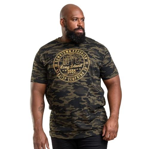 Duża koszulka męska Duke D555 Thompson moro